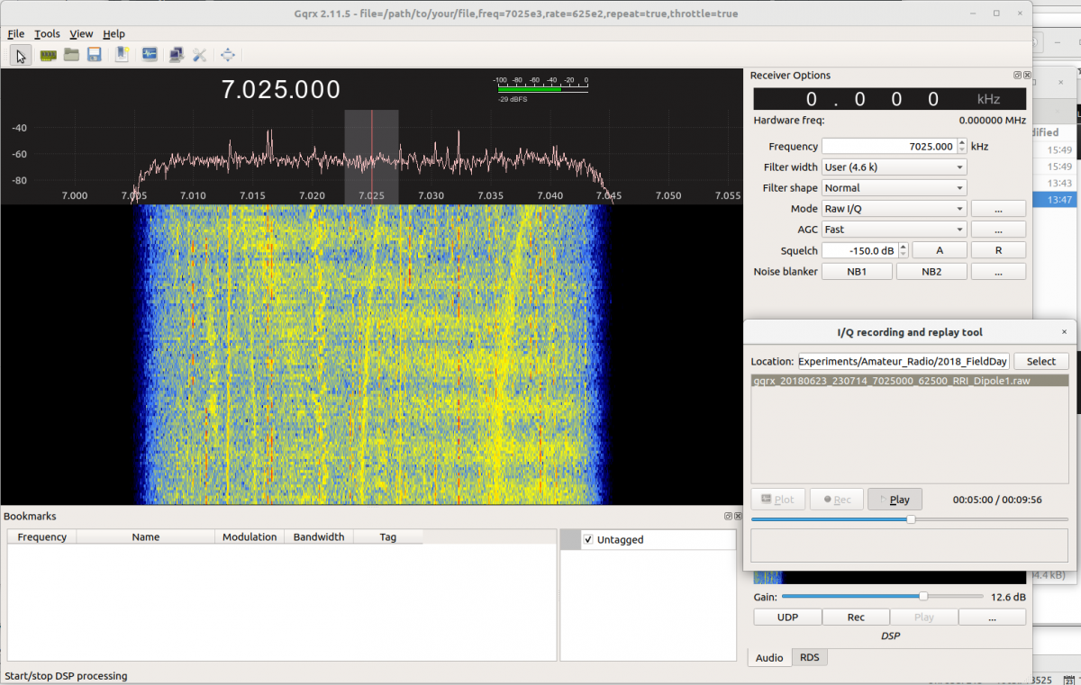 How to play an RRI raw IQ file on Gqrx | HamSCI