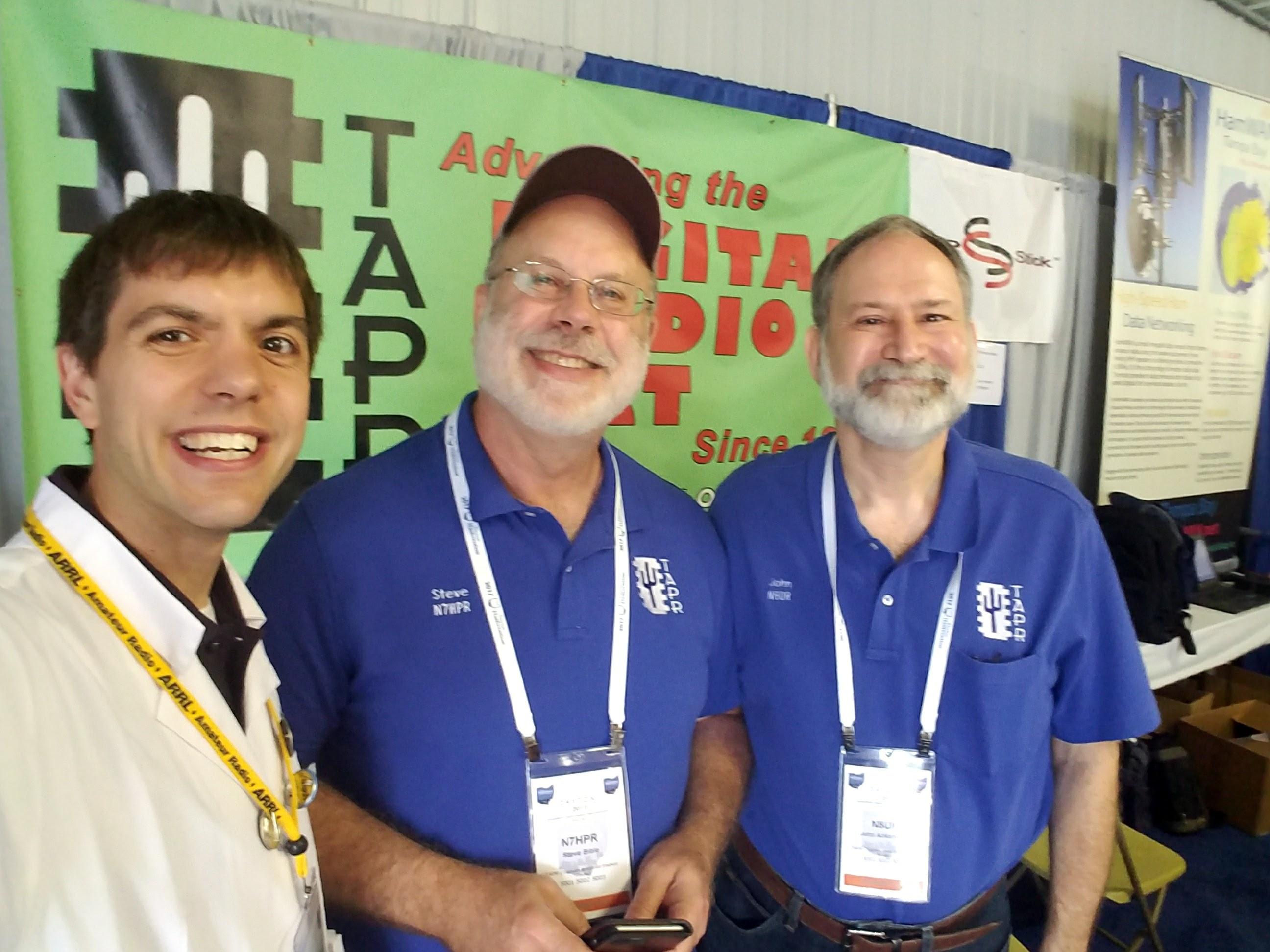 Nathaniel Frissell W2NAF, Steve Bible N7HPR, and John Ackermann N8UR