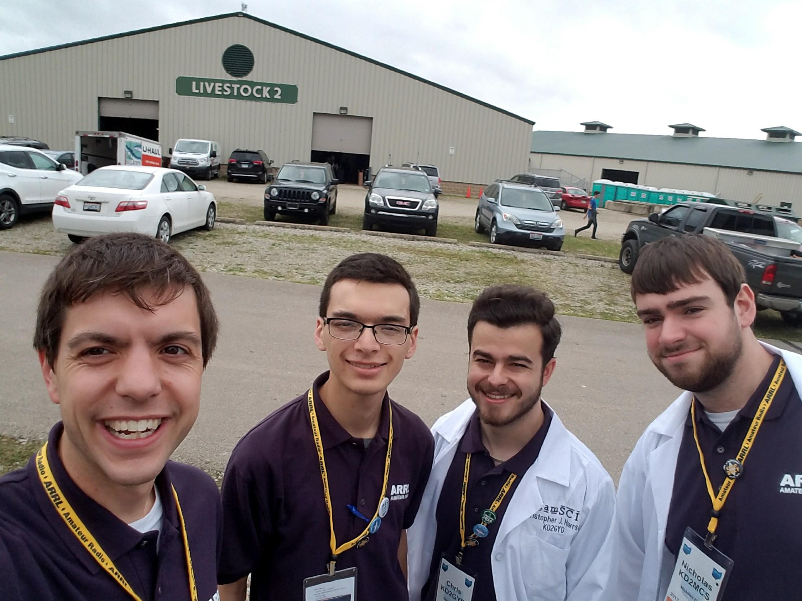 Nathaniel Frissell W2NAF, Josh Vega KD2NKK, Chris Harrsch KD2GYD, and Nick Zito KD2MCS